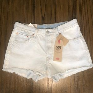 Levi's 501 shorts mid rise button fly cutoffs